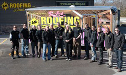 Awesome The Crew. The Collingwood Office Of AM Roofing ...